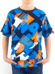 O-039-Neill-T-Shirt-Shirt-Kurzarmshirt-Scabb-blau-Allover-Muster-Rundhals