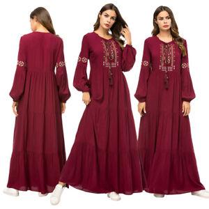 Muslim-Women-Abaya-Long-Maxi-Dress-Kaftan-Dubai-Islamic-Cocktail-Gown-Robe-Party