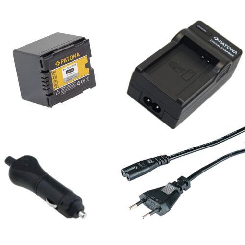 Batteria Patona caricabatteria casa//auto per Hitachi DZ-BX35E,DZ-BX37E,DZ-GX20