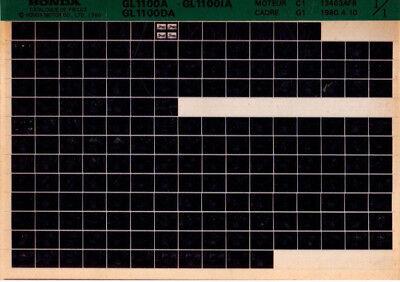 Microfiche Honda Gl1100a Gl 1100 A Da Ia Moto Rillingen En Pijnen