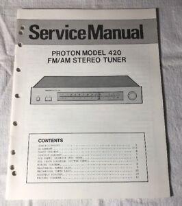image is loading proton-model-420-fm-am-stereo-tuner-original-