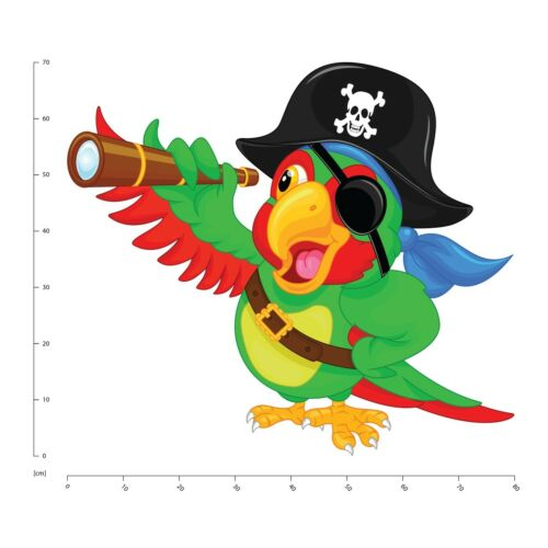 Pirate Parrot Wall Sticker WS-41233