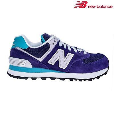 NEW BALANCE 574 scarpe ginnastica donna bambina sneakers blu beige WL574EW  CPH 80221939b94