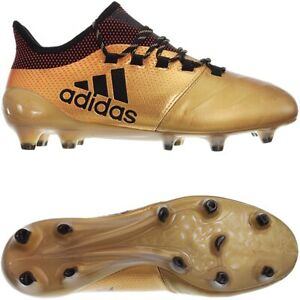 detailed look 67988 017d5 Details about Adidas X 17.1 FG Leather gold Men's soccer football boots  studs FirmGround NEW