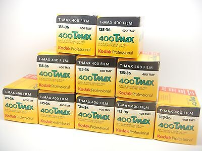 10x KODAK TMAX 400 35mm 36 Exp CHEAP BLACK & WHITE FILM By 1st CLASS ROYAL MAIL