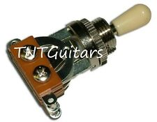 Dragonfire 3 Way Toggle Switch Selector for LES PAUL, OPEN Style Chrome w/ Cream