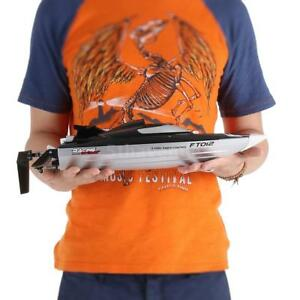 Feilun Ft012 2.4g Brushless 45km/h High Speed RC Racing Boat With Water R0z4