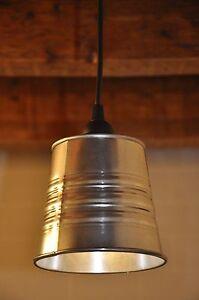 New Industrial Look Pendant Light Fixture Lamp Galvanized