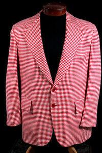 La Fourniture Vintage Rouge & Carreaux Blanc 1980's Cachemire Saks Cinquième Ave Sport Taille Correspondant En Couleur