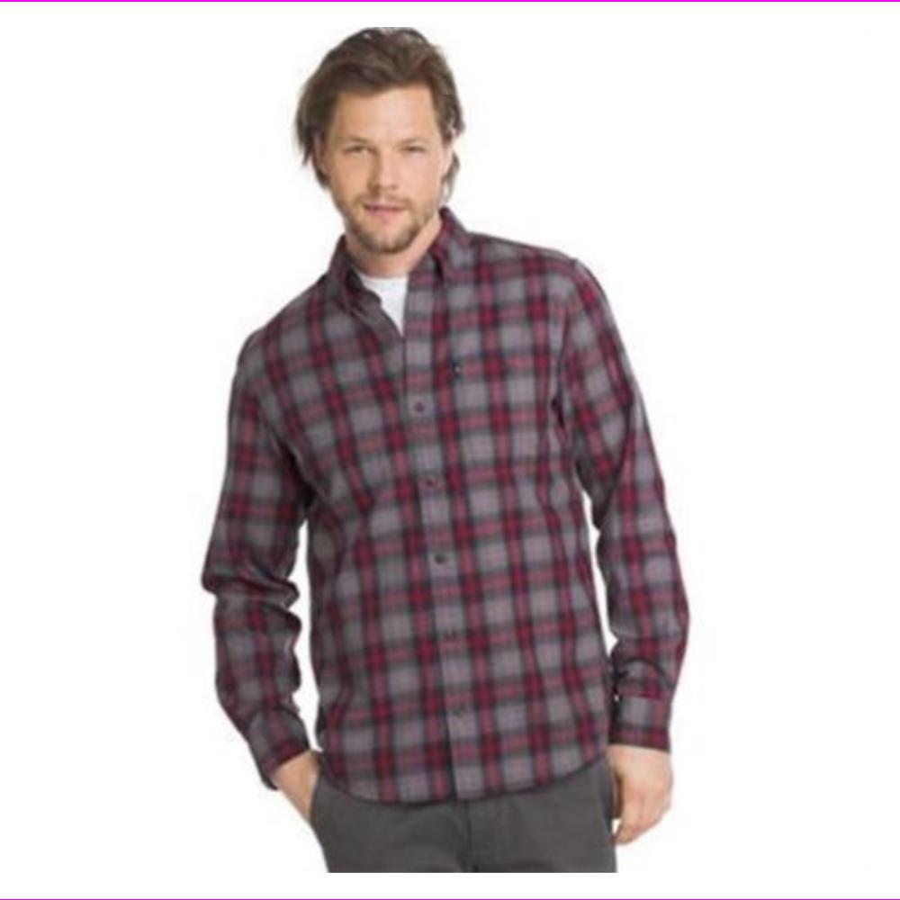NWT Men/'s G H Bass Fireside Flannel Long Sleeved Cotton Blend Shirt-Xl