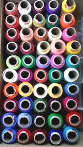 SET of Assorted 100 Tubes Spools Spun Polyester 2 ply Sewing Machine Thread Yarn