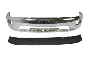 FOR 2009-2012 DODGE RAM 1500 PICKUP FRONT BUMPER FACE BAR CHROME W// FOG HOLE