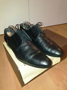 LOUIS VUITTON Schnürer in Schwarz und Größe 8 passend für 42 Leder Loafer Schuhe
