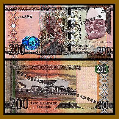 Gambia 5 10 20 50 100 200 Dalasis 6 Pcs Set 2015 P.30-36 Redesigned Issue Unc