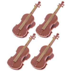 Details about 4* Brown Violin Viola Fiddle Music Book Clip Sheet Music Clip  Book Clip