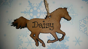 PERSONALISED-HAND-MADE-HORSE-BAUBLE-CHRISTMAS-TREE-ORNAMENT-ENGRAVED-ANY-NAME