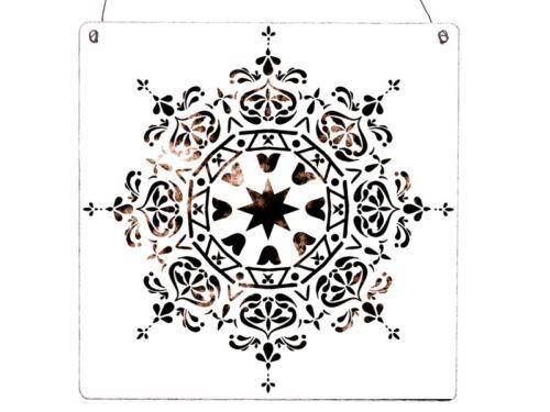 XL Holzschild MANDALA IBIZA STYLE Shabby Used Look Geschenk Vintage Türschild