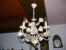 Blütenlampe Blüten Rosenblüten Lampe Florentiner Deckenlampe 5-flammig