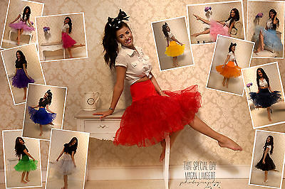 "26"" 50's Underskirt Retro Swing Vintage Petticoat Fancy Skirt Rockabilly 1950's"