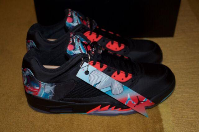 cheaper 3c237 0b012 Nike Air Jordan 5 Retro Low CNY Chinese New Year Size 13 Black Crimson New