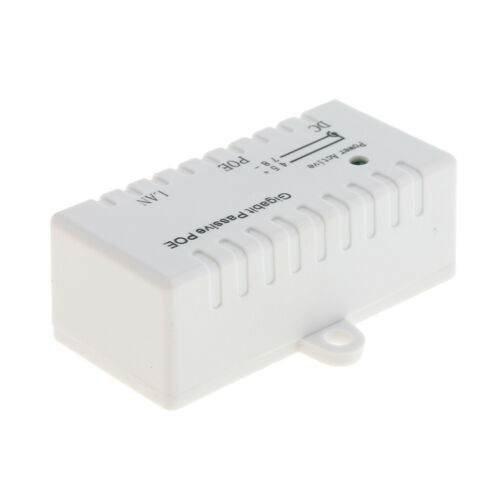 2x 12V-52V Gigabit PoE Injector Power Supply Ethernet Adapter 2.1mm x 5.5mm