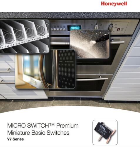 HONEYWELL V7-1C17D8-022 Premium Mini Swch,15A,SPDT,Lng Strt Levr Pack of 2