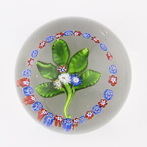 antique 19th Century St Louis lampwork Nosegay and garland glass paperweight - Oldbury, United Kingdom - antique 19th Century St Louis lampwork Nosegay and garland glass paperweight - Oldbury, United Kingdom