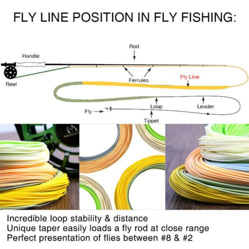 Maxcatch AVID Fliegenschnur WF3F//4F//5F//6F//7F//8F Schwimmende Zweifarbige Schnur