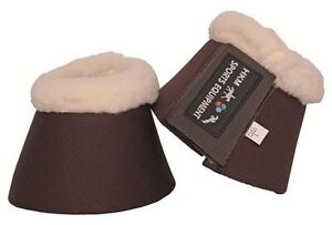 HKM-Comfort-Padded-Over-Reach-Bell-Boots-Anti-Rub-Fleece-Collar-Sizes-Pony-XFull