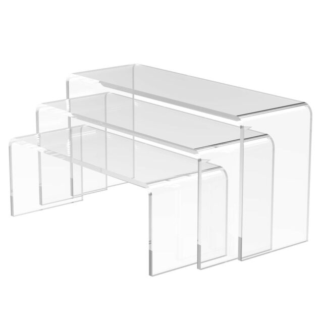 Nesting Plinths Acrylic Display Stand Clear Counter Riser - Small by Displaypro