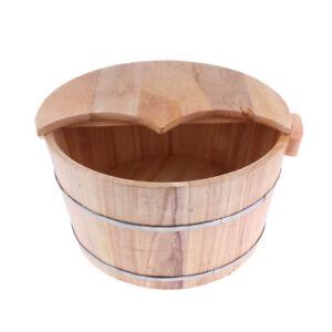 Details About Vintage Wood Foot Spa Bath Basin Tub Feet Soaking Wash Bucket Lid Stool Barrel