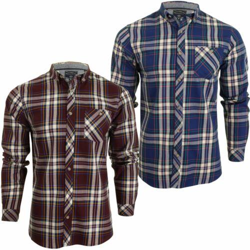 """Da Uomo Tokyo Laundry Twill Check Camicia """"MILANO"""" a maniche lunghe"""
