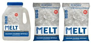 Snow Ice Melt Rock Salt 10 25 50 Lb Calcium Chloride Crystals Ice Melter