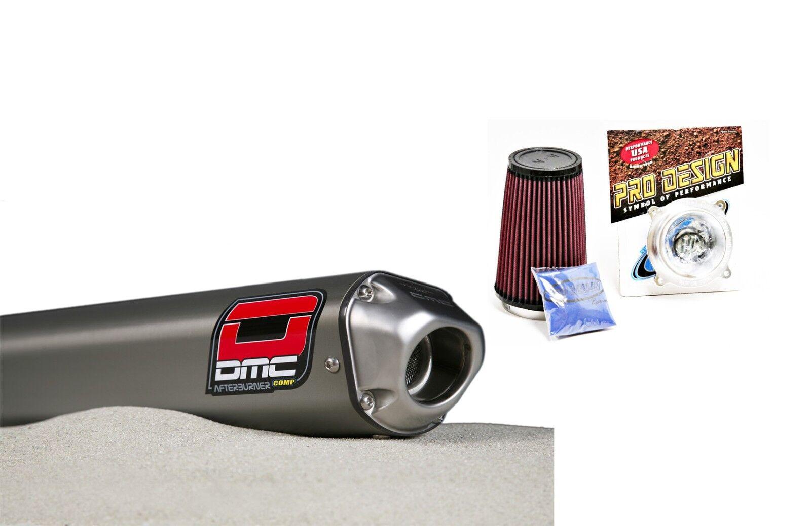 DMC Quiet Quiet Quiet Slipper Auspuff System Rohr + K&n Set Honda Trx400ex 1999 - 2013 04545f