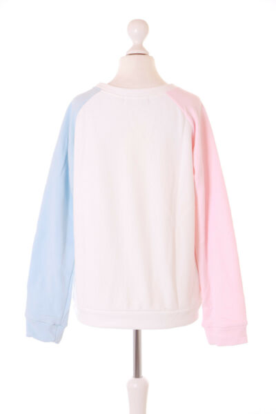 TS-148 Weiß Rosa Blau Patch Katze Cat Fisch Pastel Goth Lolita Pullover Kawaii