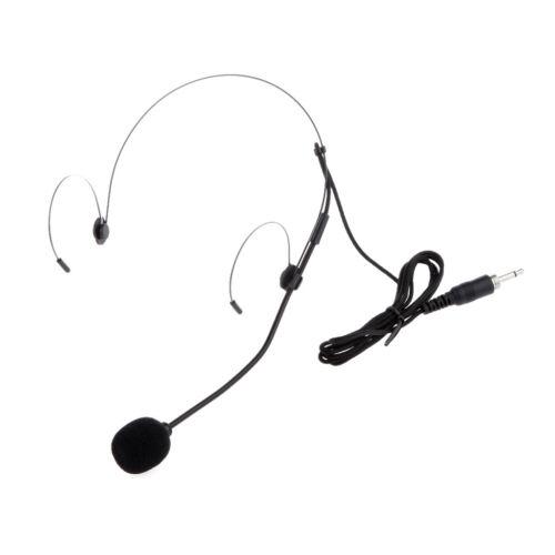 Schwarz Ohrbügel Headset Zurück Blectret Headsetmikrofon Mit Stright