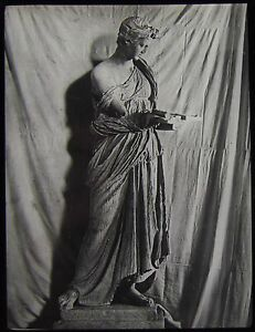 Glass-Magic-Lantern-Slide-GREEK-OR-ROMAN-STATUE-NO17-C1900-PHOTO-SCULPTURE