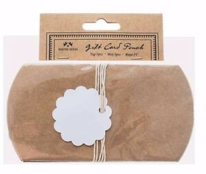 GIFT CARD POUCH 3 TAGS 3 POUCHES 3 TWINE GIFTS CRAFTS HOBBYCRAFT UK SELLER