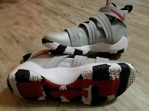 low priced 5d3ea ffb7e Details about Nike Lebron Soldier XI 11 SFG Silver Bullet Silver Red Black  897646-007 Men's 14