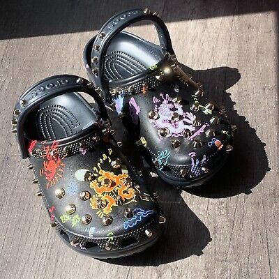 NIB Vivienne Tam x Crocs Women/'s Multicolor Studded Dragon Print Clog Shoes US 8