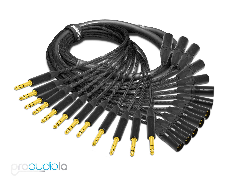 Premium Mogami 2933 12 Channel Snake   Neutrik Gold TRS XLR-M   40 Feet 40 ft.