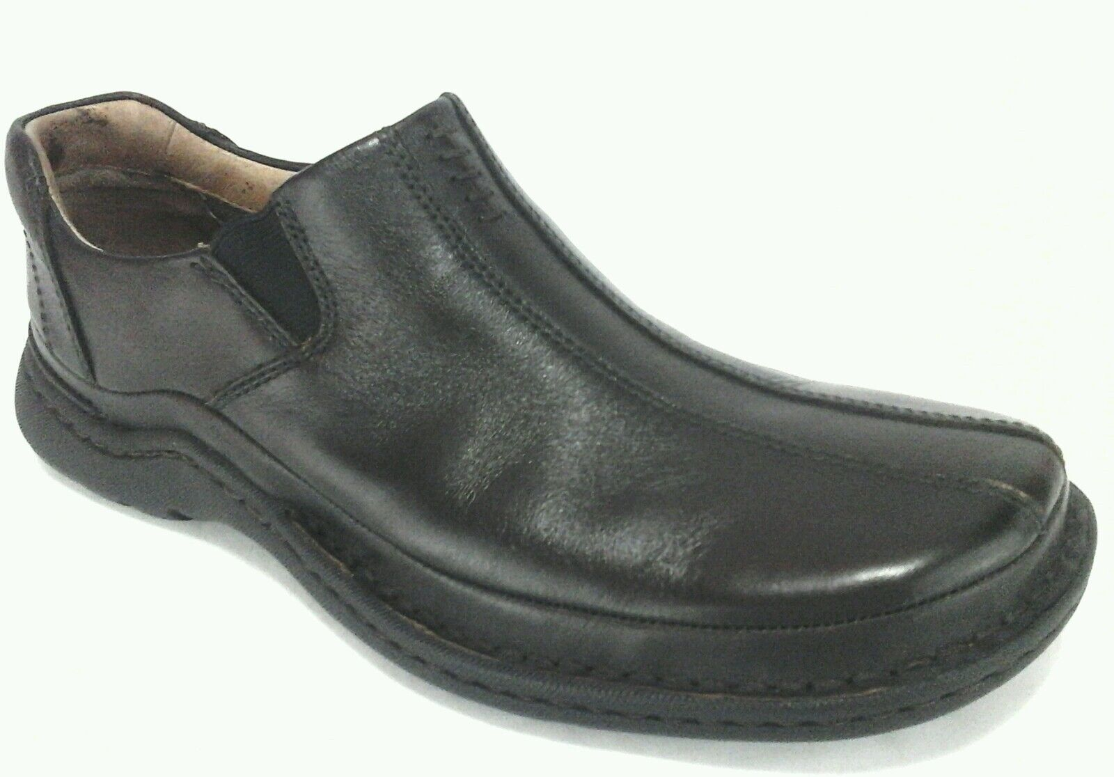 CLARKS Loafers Brown Leather Casual Comfort Slip On shoes Men's US 8