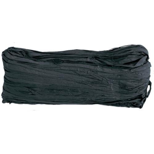 ABVERKAUF Dekoband Raffia Bast 4mm 50 g schwarz Raffiaband Bund Geschenkband