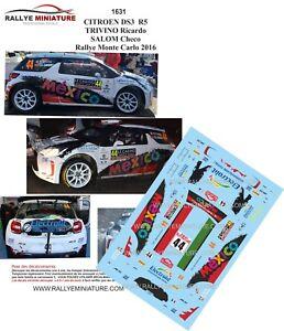 DECALS-1-43-REF-1631-CITROEN-DS3-R5-TRIVINO-RALLYE-MONTE-CARLO-2016-RALLY-WRC