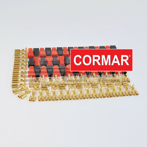 KIT 20 pezzi faston femmina 6,35 x 0,8 mm 20 coprifaston rosso e nero