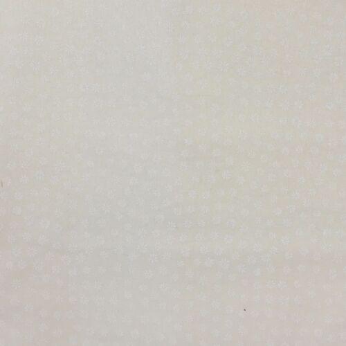 Ivory white /& tea stain tone on tone prints 100/% craft cotton per half metre