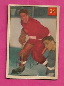 1954-55-PARKHURST-34-RED-WINGS-MARCEL-PRONOVOST-CARD-INV-C4935