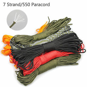 550-Paracord-Parachute-Cord-Lanyard-Spec-Type-7-Strand-Core-Rope-20-50-100-300ft