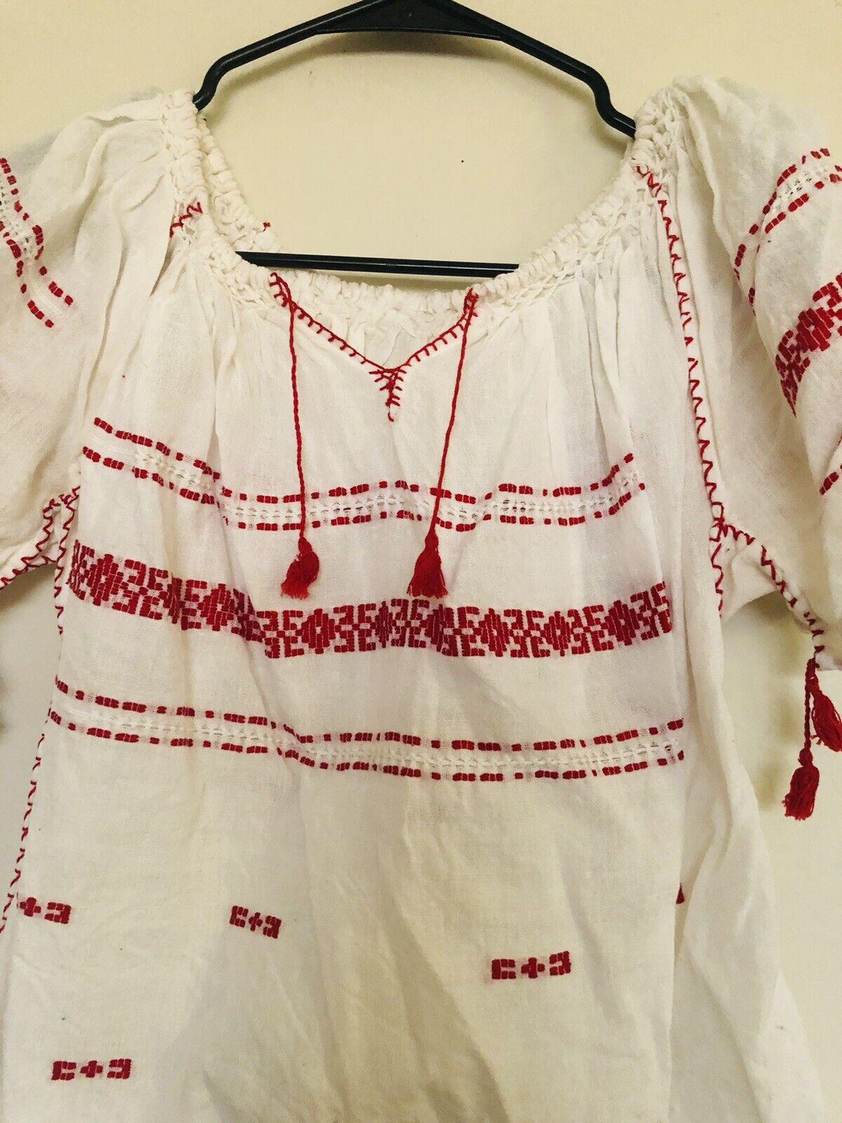 Vintage 1960/70 Hungarian Blouse, Fits size xs/sm… - image 2