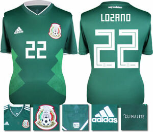 uk availability cb044 7c6c8 Details about LOZANO 22 - MEXICO HOME 2018 WORLD CUP ADIDAS SHIRT SS = KIDS